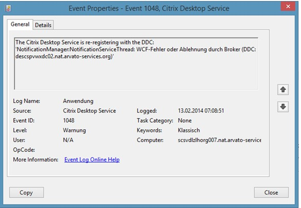 VDA re-registers with DDC during User Logon, causing Wyse