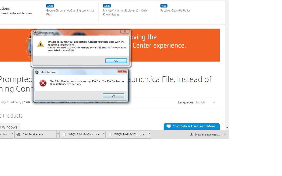 Error 1020 with WIndows Vista - Receiver Compatibility