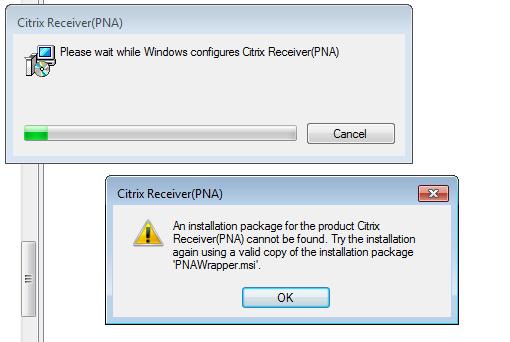 Receiver XD 5 6 x64 Image Please wait while windows configures