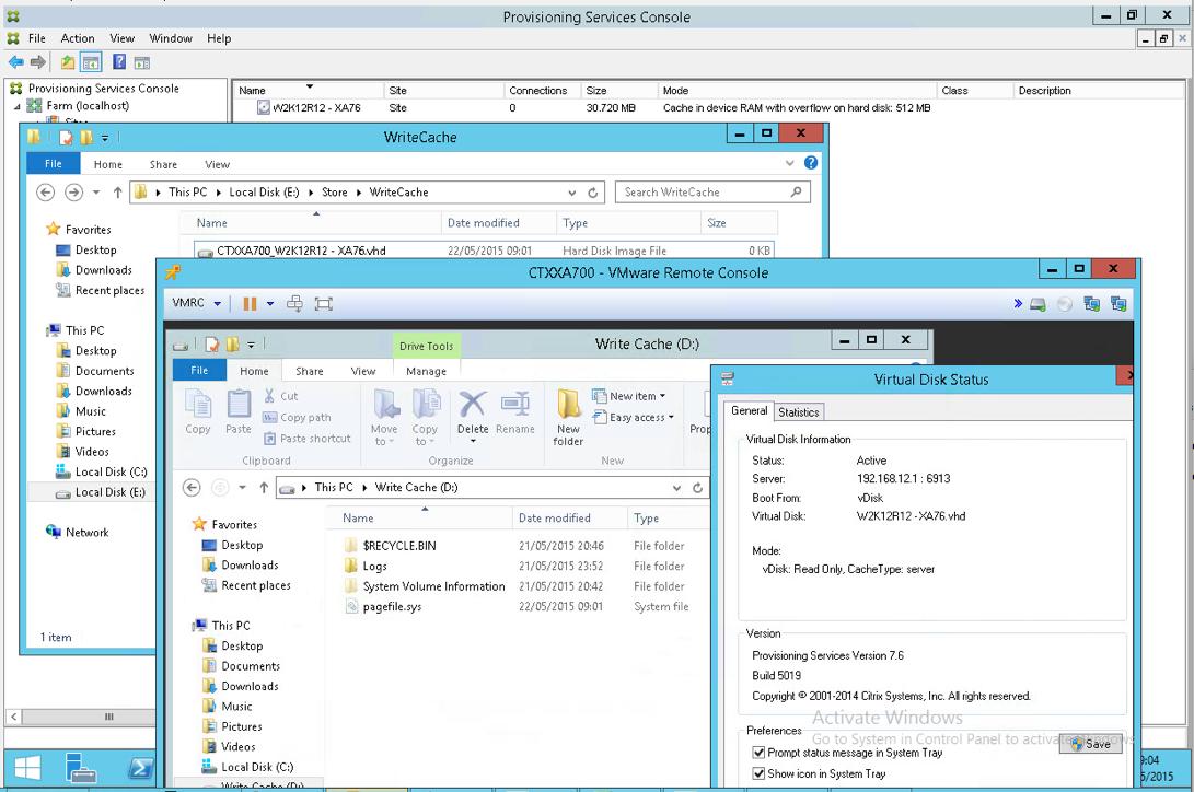 PVS 7 6 vDisk write cache setting