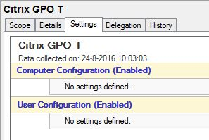 Group Policies do not show up under Settings Tab - XenApp 7 x