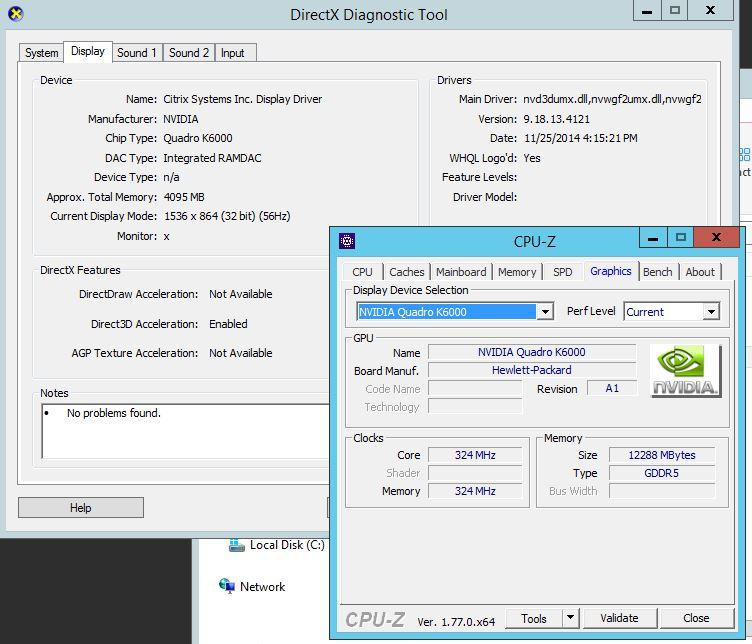 XenServer 7 GPU passthrough using Quadro K6000 - GPU