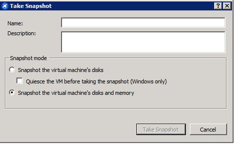 Snapshots: can we quiesce disks AND snapshot RAM