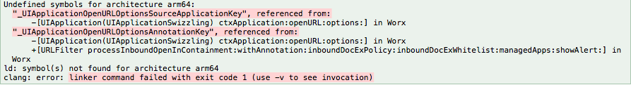 WORX SDK (iOS) Issues while compling the App - XenMobile 10