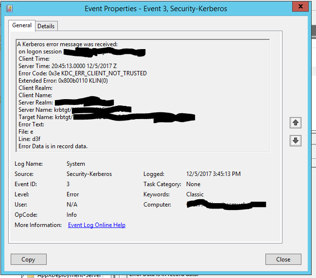 Citrix FAS Username or Password is incorrect - XenApp 7 x