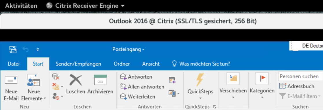 Citrix Receiver 13 8 Seamless Windows on Wayland Session - Receiver