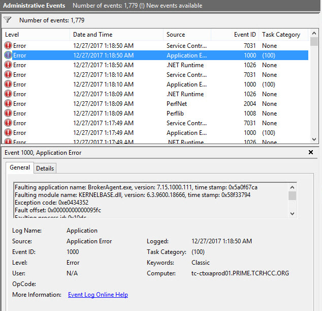 7 15 VDA agent not Registering with Delivery Controller - XenApp and