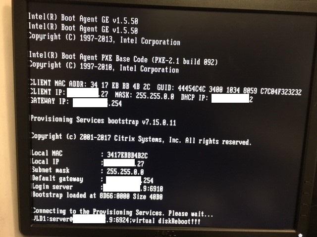 PVS7 15 client cannot show boot menu - Provisioning Server