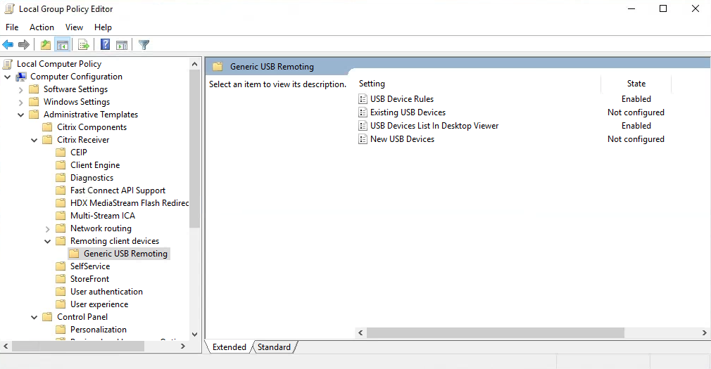 USB Device Pass-through Issue - XenDesktop 7 x - Discussions