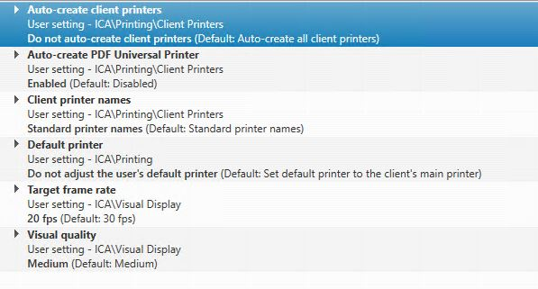 An error occurred while retrieving client printer properties