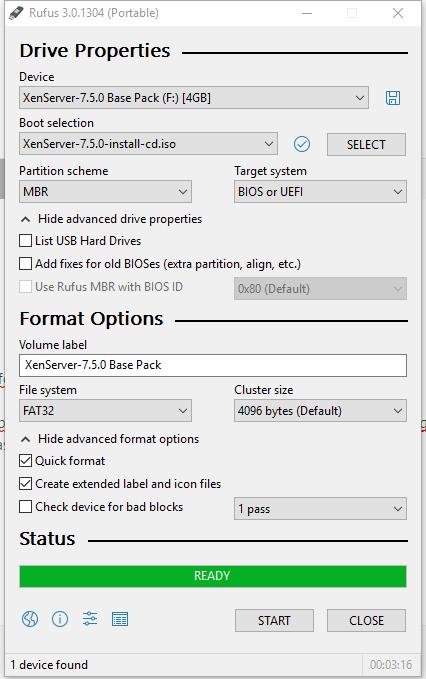 XenServer 7 5 ISO not bootable - Server Installation
