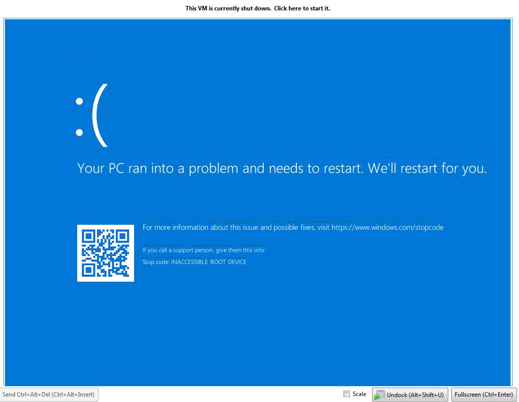 windows 10 1803 failed to install