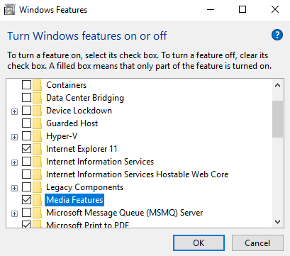 Microsoft Media Foundation is not installed on this machine