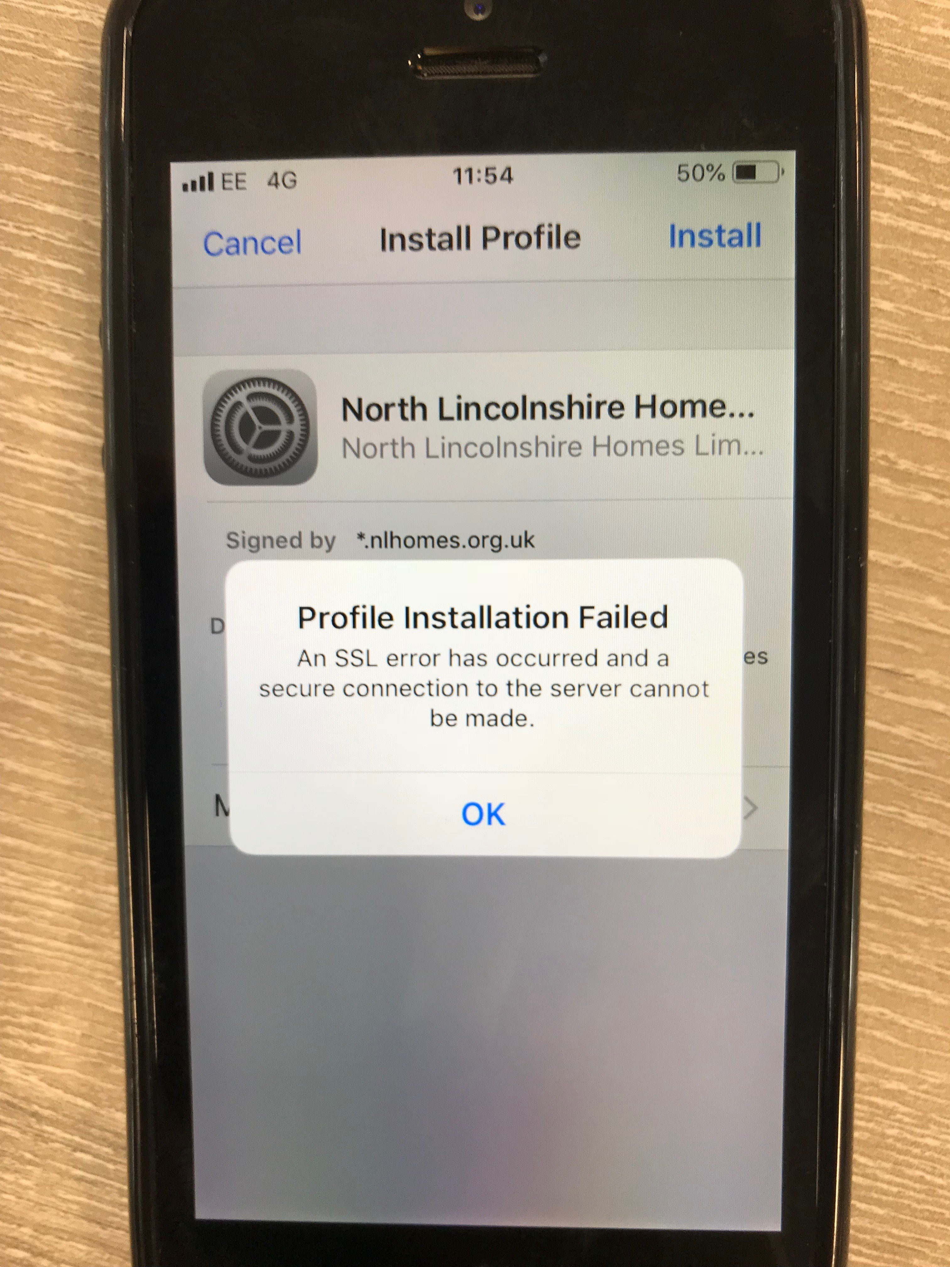 Certificate Error for (new) iOS 12 devices - XenMobile Client EARs