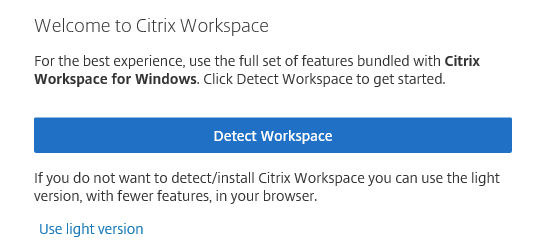 Force detection of client - Workspace Experience - Discussions