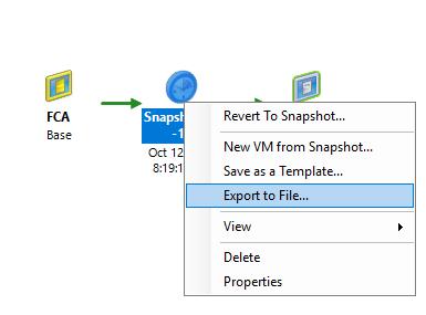 Restoring server from snapshot (XVA) - Administrator Console