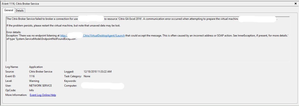 Citrix Broker Service Failures - XenApp and XenDesktop 7 15