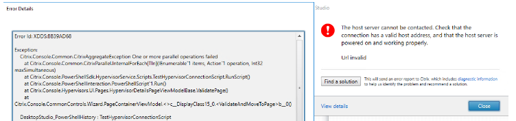 DDC is not able to contact the Hypervisor vsphere - XenDesktop 7 x