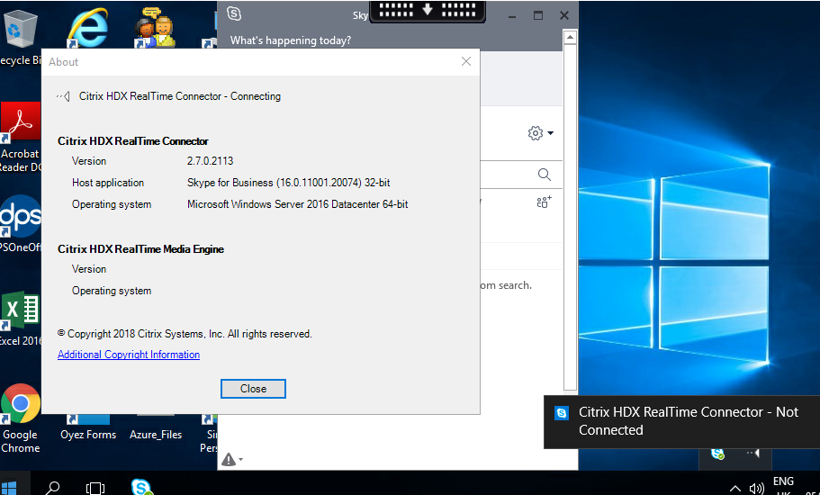 Citrix HDX RealTime Connector keeps reconnecting - HDX RTOP 2 6 for